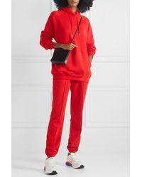 NINETY PERCENT + Net Sustain Organic Cotton-jersey Track Pants - Red