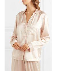 Skin Renata Pyjama-hemd Aus Stretch-seidensatin - Natur
