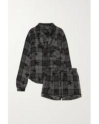 Rails Kellen Pyjama Aus Kariertem Flanell Mit Print - Grau