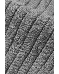 FALKE Clean Allure Strumpfhose Aus Einer Gerippten Baumwollmischung - Grau