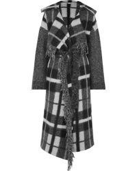 Stella McCartney - Checked Wool And Mohair-blend Coat - Lyst