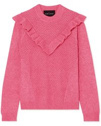 Needle & Thread - Ruffled Knitted Sweater - Lyst