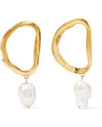 Alighieri - Dante's Shadow Gold-plated Pearl Earrings - Lyst