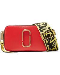 Marc Jacobs - Snapshot Crossbody Bag In Multicolour Poppy Red Polyurethane Coated Calfskin - Lyst