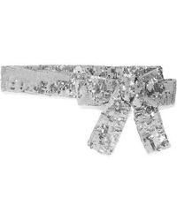 Attico - Sequined Chiffon Belt - Lyst