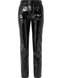 Saint Laurent - Vinyl Slim-leg Pants - Lyst