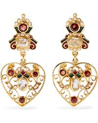 7444ce30f Percossi Papi - Gold-plated And Enamel Multi-stone Earrings Gold One Size -