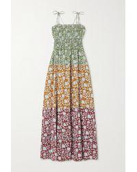 Hannah Artwear + Net Sustain Sunhara Maxikleid Aus Bedruckter Baumwolle - Grün