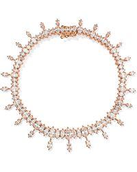 Anita Ko - Bracelet En Or Rose 18 Carats Et Diamants Atlas - Lyst
