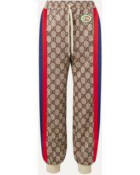 Gucci Appliquéd Striped Printed Tech-jersey Track Pants - Multicolour