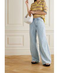 FRAME Le Baggy High-rise Wide-leg Jeans - Blue