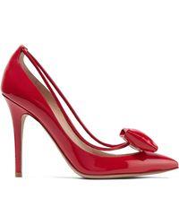 Valentino - Garavani Glassglow Pvc-trimmed Patent-leather Pumps - Lyst