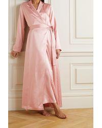 La Perla Morgenmantel Aus Seidensatin - Pink