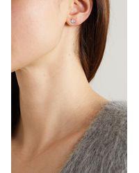 STONE AND STRAND Shield Of Strength Gold Diamond Earrings - Metallic
