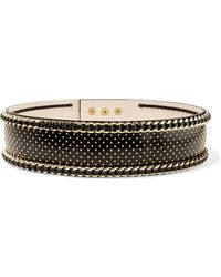 Balmain - Embellished Leather Waist Belt - Lyst