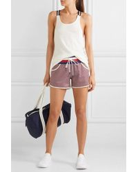 Perfect Moment Printed Stretch Shorts - Blue