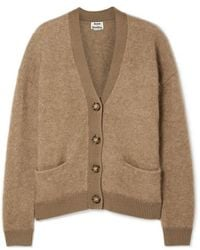 Acne Studios Rives Oversized Knitted Cardigan - Natural