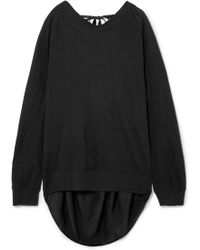 Ann Demeulemeester - Draped Cotton And Silk Sweater - Lyst