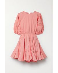 RHODE Molly Open-back Cotton-voile Mini Dress - Pink