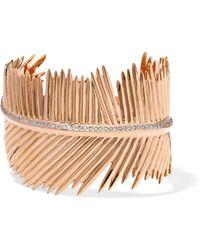 Dezso by Sara Beltran - Palma Leaf 18-karat Rose Gold Diamond Cuff - Lyst