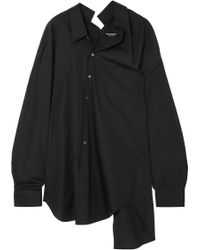 Junya Watanabe - Oversized Deconstructed Cotton-poplin Shirt - Lyst