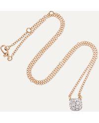 Pomellato Nudo 18-karat Rose And White Gold Diamond Necklace - Metallic