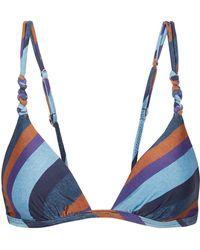 Acheter Pas Cher 100% Authentique Rabais Pas Cher En Ligne Vix Haut De Bikini Triangle Imprimé à Volants Bluebell - Bleu 2yuzsMiguJ