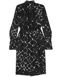Marc Jacobs - Printed Silk Turtleneck Midi Dress - Lyst