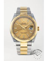 Rolex Pre-owned 2019 Datejust 36mm 18-karat Gold And Oystersteel Watch - Metallic
