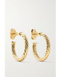 David Yurman Cable Spira 18-karat Gold Hoop Earrings - Metallic