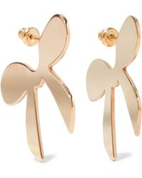 Simone Rocha - Gold-plated Earrings Gold One Size - Lyst