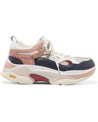 Brandblack - Saga Mesh-paneled Leather Sneakers - Lyst