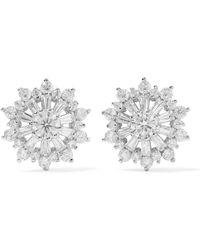 Kenneth Jay Lane | Rhodium-plated Cubic Zirconia Earrings | Lyst