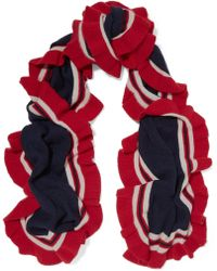 Madeleine Thompson - Ava Ruffled Striped Cashmere Scarf - Lyst