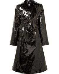Gareth Pugh - Belted Pvc Trench Coat - Lyst