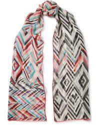 Missoni - Printed Silk-chiffon Scarf - Lyst