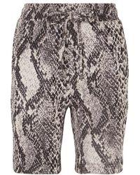 TWENTY MONTREAL Strike Cropped Cotton-blend Snake-jacquard Shorts - Multicolor