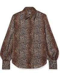 Equipment Didina Leopard-print Georgette Shirt - Brown