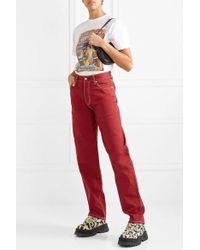 Eytys Benz Boyfriend-jeans - Rot
