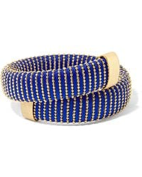 Carolina Bucci - Caro Gold-plated And Cotton Bracelet - Lyst