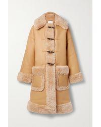 A.L.C. Brunswick Oversized-mantel Aus Shearling-imitat - Braun