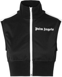 Palm Angels   Cropped Striped Satin-jersey Top   Lyst