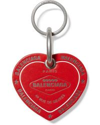 Balenciaga Casino Heart Keyring - Red