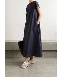 Frankie Shop Dakota Grain De Poudre Maxi Dress - Blue