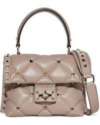 Valentino Valentino Garavani Candystud Mini Quilted Leather Shoulder Bag - Multicolour