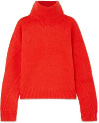 Tory Burch - Eva Convertible Oversized Wool-blend Turtleneck Sweater - Lyst