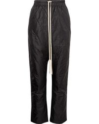 Rick Owens Quilted Shell Pants - Black