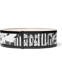 Balmain - Printed Leather Belt - Lyst