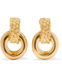 Kenneth Jay Lane - Polished Gold-tone Clip Earrings - Lyst