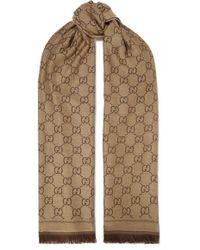 Gucci - Sten Reversible Intarsia Wool Scarf - Lyst